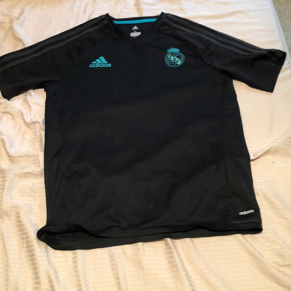 outlet store 902c6 f7237 Real Madrid black and baby blue team jersey
